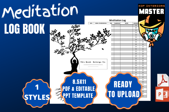 Download Free 1 Meditation Log Designs Graphics for Cricut Explore, Silhouette and other cutting machines.