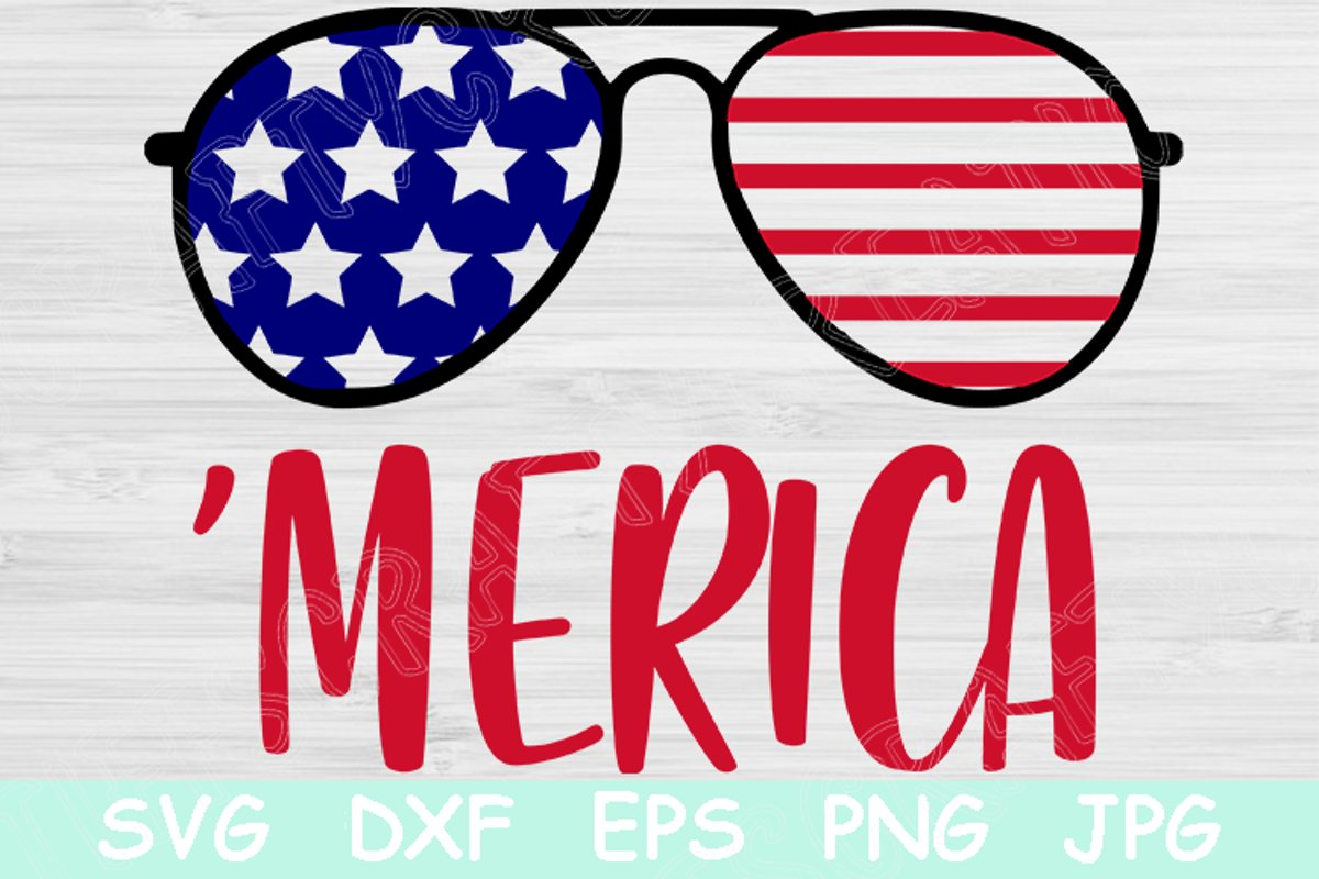 Merica 4th Of July Patriotic Graphic By Tiffscraftycreations