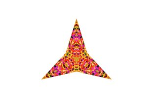 Download Free Mosaic Triangle Star Design Graphic By Davidzydd Creative Fabrica for Cricut Explore, Silhouette and other cutting machines.