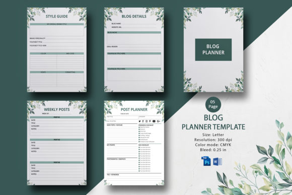 Printable Blog Post Planner Graphic Print Templates By sistecbd