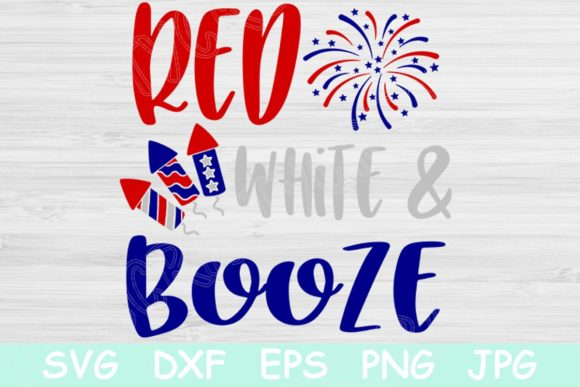 Download Free Red White And Booze 4th Of July Graphic By Tiffscraftycreations Creative Fabrica SVG Cut Files