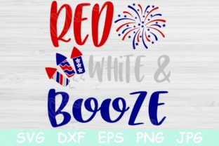 Download Free Red White And Booze 4th Of July Graphic By Tiffscraftycreations for Cricut Explore, Silhouette and other cutting machines.