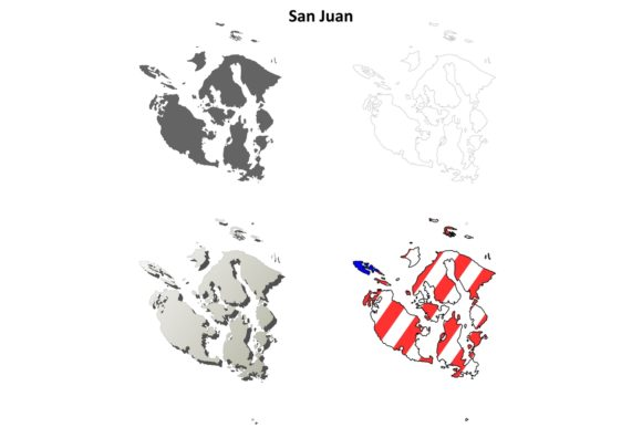 Download Free San Juan County Outline Map Set Graphic By Davidzydd Creative for Cricut Explore, Silhouette and other cutting machines.