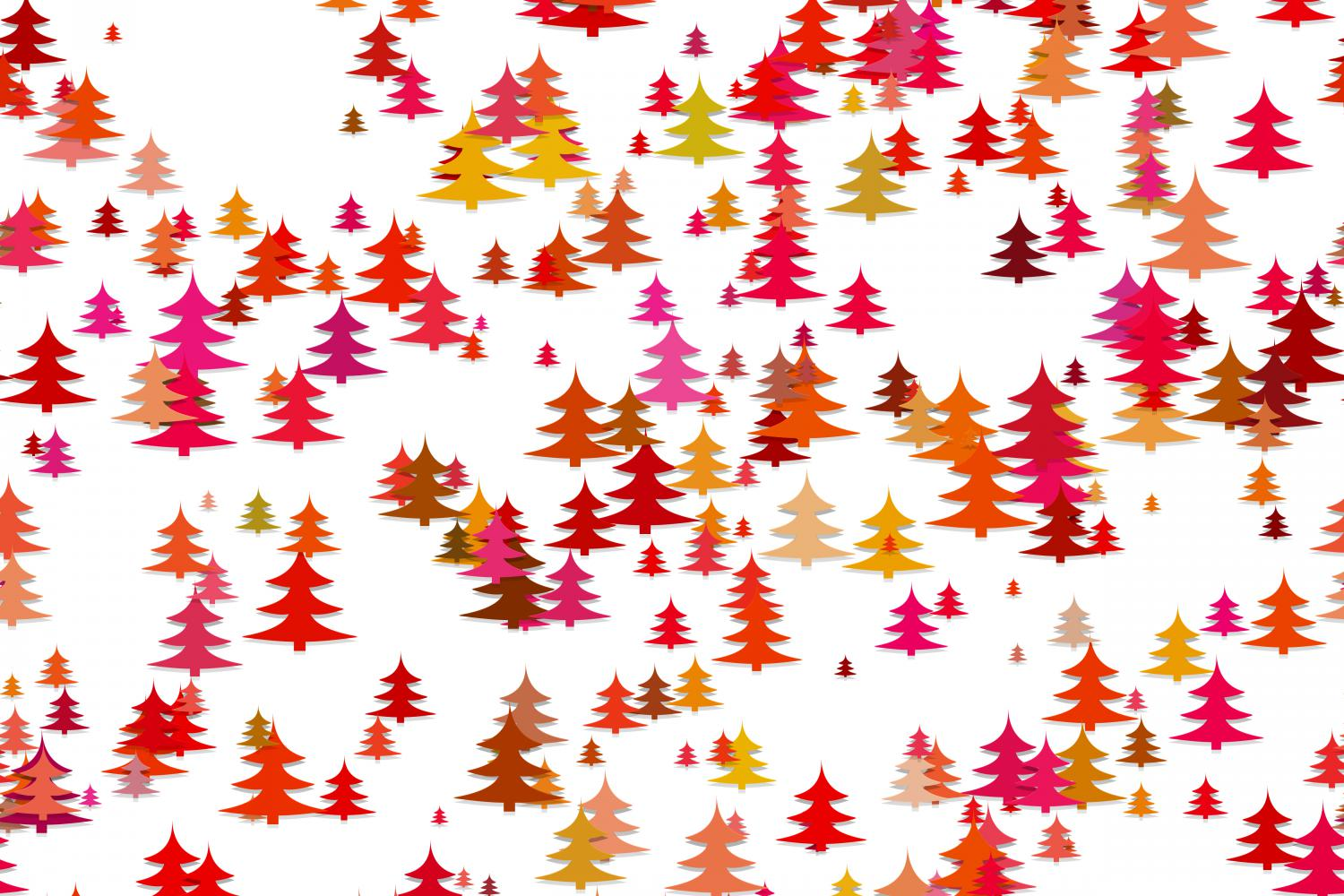 Download Free Seamless Colorful Pine Tree Background Graphic By Davidzydd for Cricut Explore, Silhouette and other cutting machines.