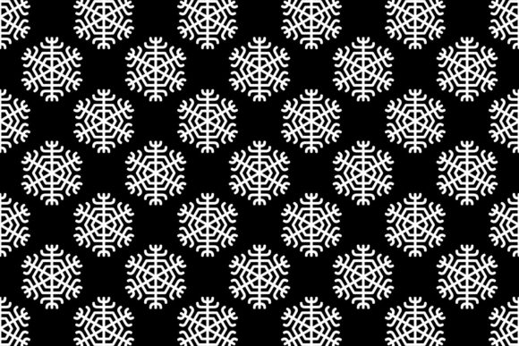 Download Free Seamless Monochrome Winter Pattern Graphic By Davidzydd for Cricut Explore, Silhouette and other cutting machines.