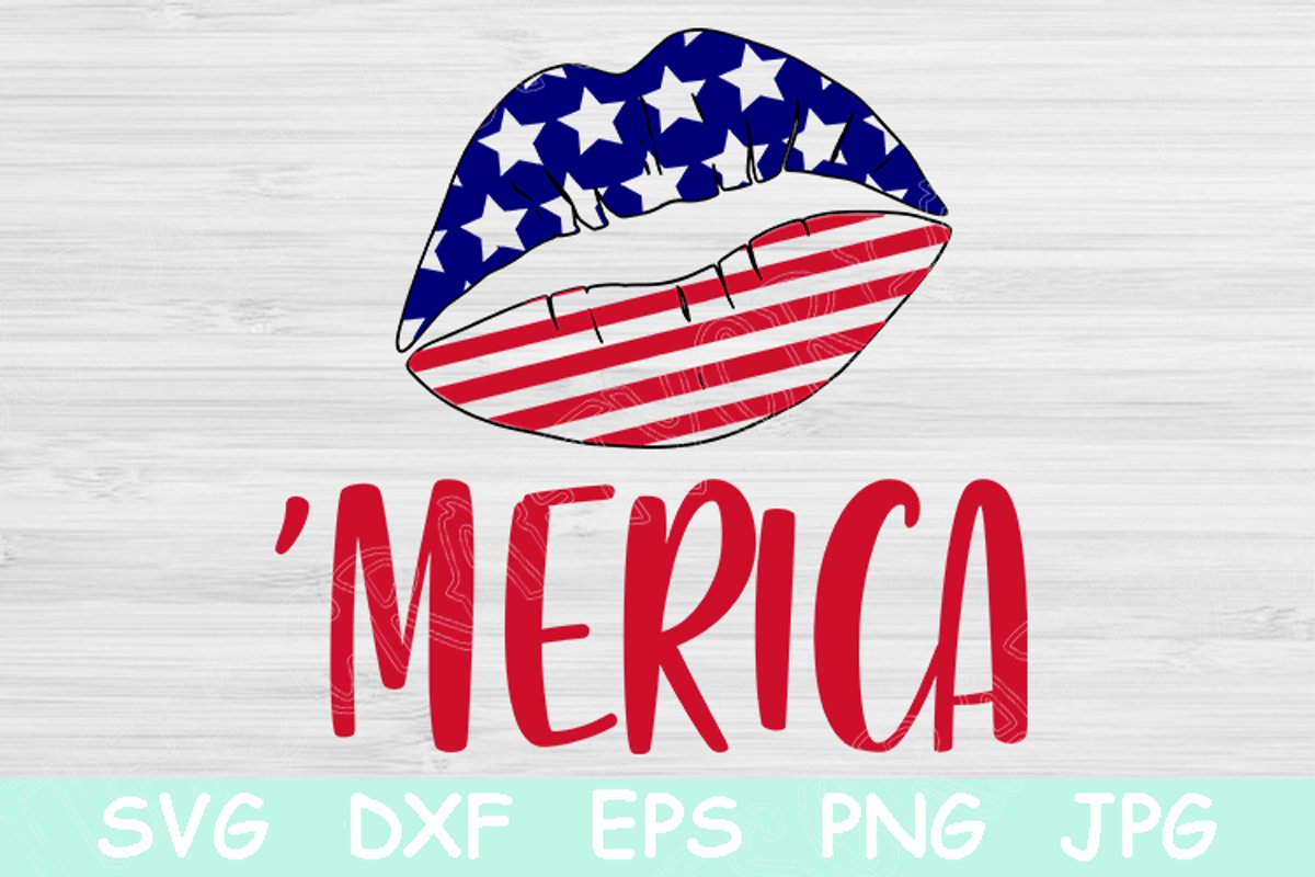 Download Free Usa Lips Merica Svg 4th Of July Svg Graphic By for Cricut Explore, Silhouette and other cutting machines.