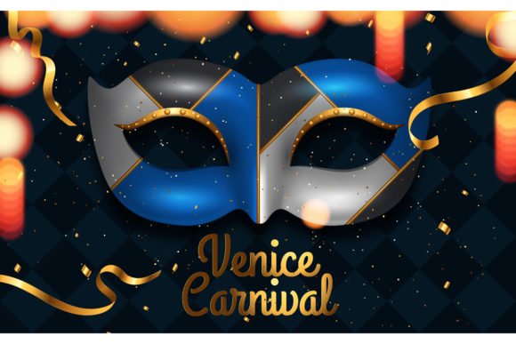 Venice Carnival Party Design Graphic Backgrounds By inkwellapp