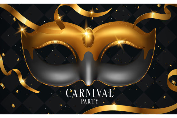 Venice Carnival Party Design Grafik Hintegründe von inkwellapp