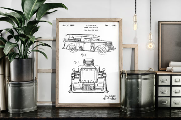 Download Free Vintage Patent Art Motor Pump Vehicle Graphic By Antique Pixls for Cricut Explore, Silhouette and other cutting machines.