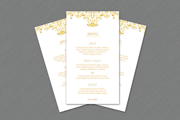 Download Free Wedding Menu Card Ms Word Template Graphic By Sistecbd SVG Cut Files