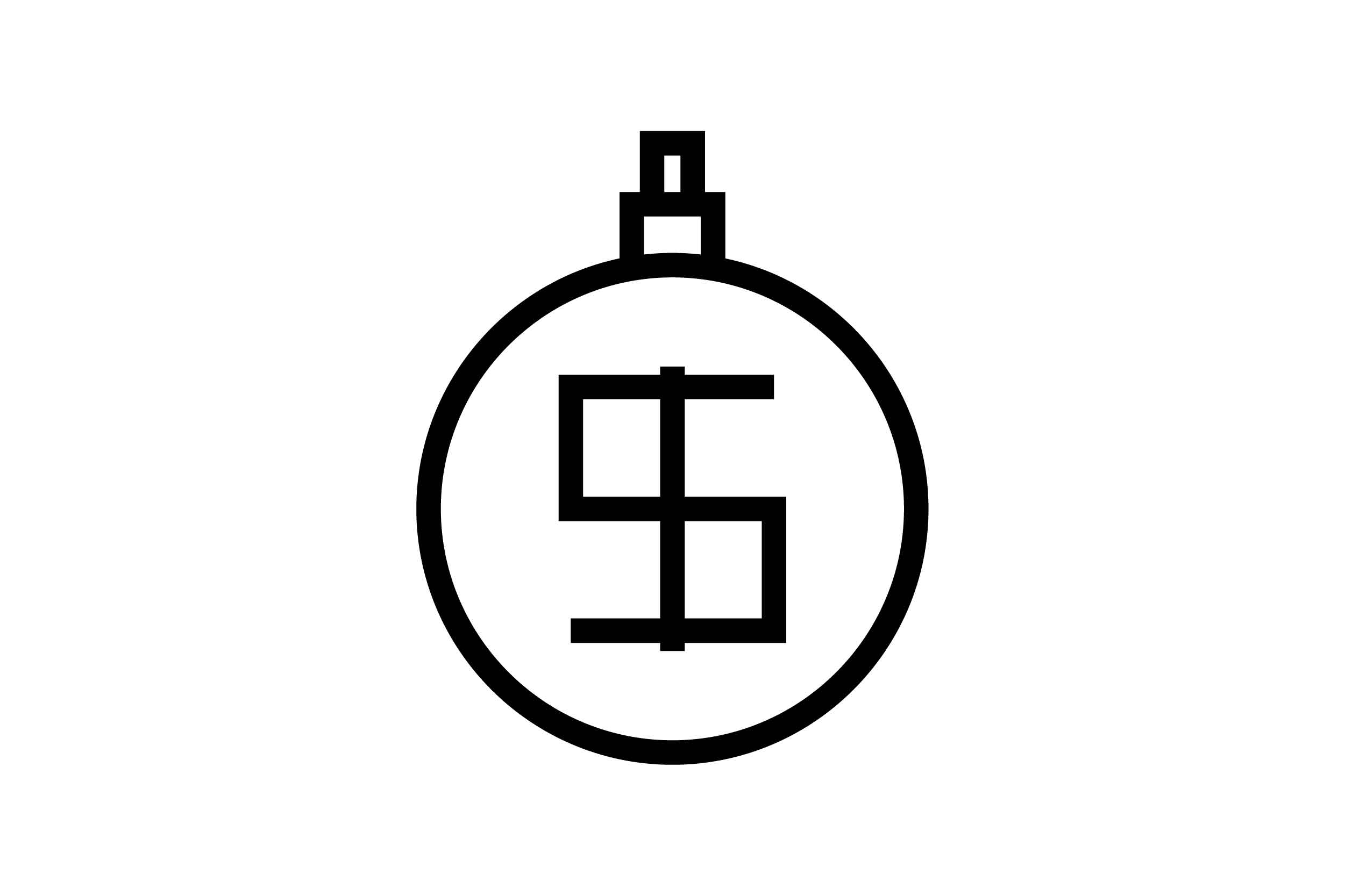 Download Free Dollar Black And White Line Icon Graphic By Muhammadfaisal40 for Cricut Explore, Silhouette and other cutting machines.