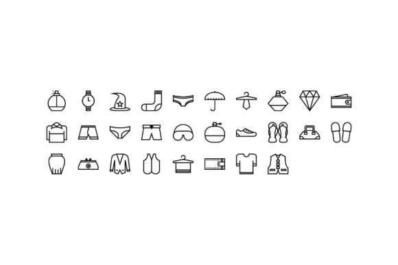 Fashion Black and White Line Icon Graphic Icons By muhammadfaisal40