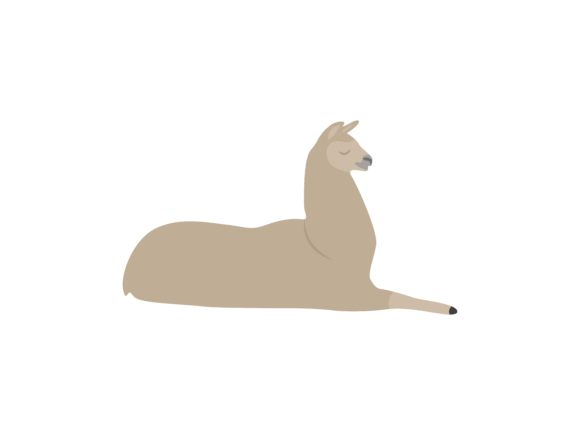 Download Free Lazy Ilama Animal Graphic By Archshape Creative Fabrica for Cricut Explore, Silhouette and other cutting machines.