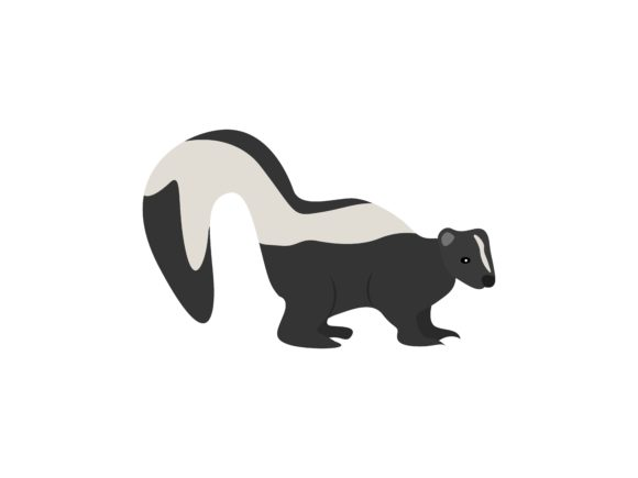 Download Free Skunk Standing Animal Graphic By Archshape Creative Fabrica for Cricut Explore, Silhouette and other cutting machines.