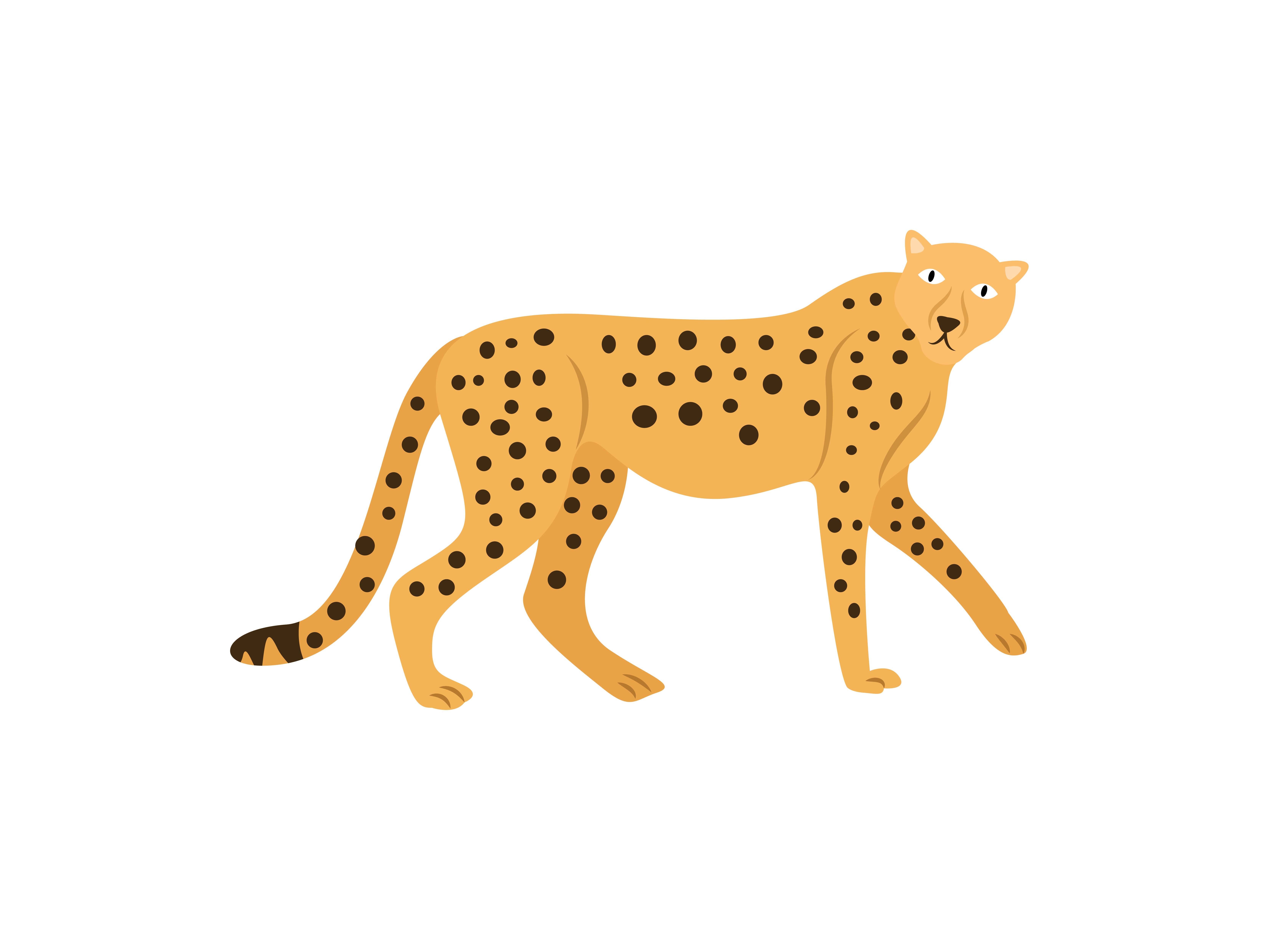 Download Free Walking Cheetah Animal Graphic By Archshape Creative Fabrica for Cricut Explore, Silhouette and other cutting machines.