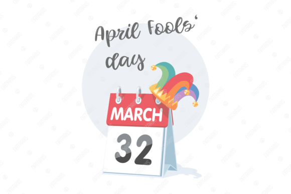 Download Free 1st Of April Fool S Day Illustration Graphic By Natariis Studio for Cricut Explore, Silhouette and other cutting machines.