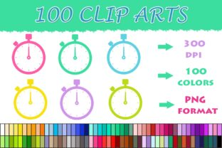 100 Stopwatch Clip Art Graphic Illustrations By SweetDesign