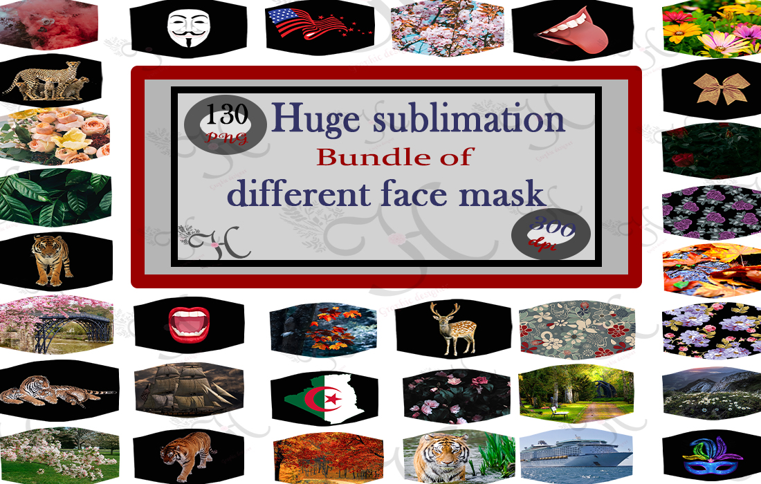 Download Free 130 Sublimation Face Mask Graphic By Heba Morsy Creative Fabrica for Cricut Explore, Silhouette and other cutting machines.