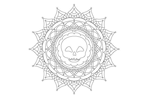 Download Free Skull Mandala Svg Cut File By Creative Fabrica Crafts Creative for Cricut Explore, Silhouette and other cutting machines.