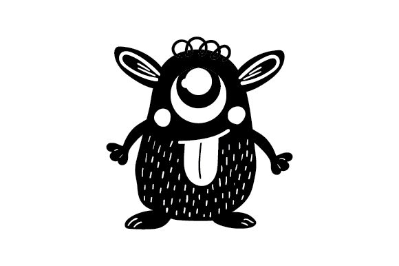 Download Free Cute Monster Svg Cut File By Creative Fabrica Crafts Creative for Cricut Explore, Silhouette and other cutting machines.