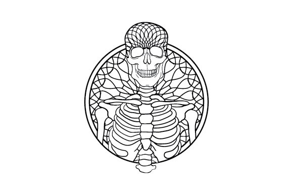 Download Free Skeleton Mandala Svg Cut File By Creative Fabrica Crafts for Cricut Explore, Silhouette and other cutting machines.