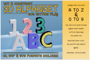Print on Demand: 3D Alphabet & Numbers Cutting File Set Graphic 3D SVG By gentlemancrafter
