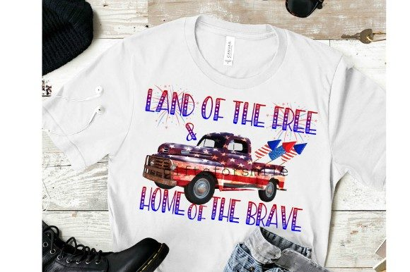 Download Free 4th July Truck Sublimation Template Graphic By Aarcee0027 for Cricut Explore, Silhouette and other cutting machines.