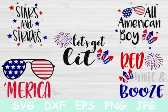 Download Free Let S Get Lit 4th Of July Graphic By Tiffscraftycreations for Cricut Explore, Silhouette and other cutting machines.