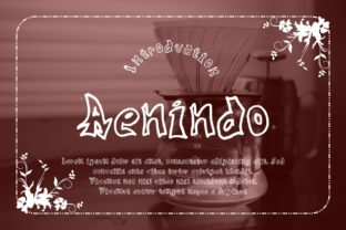 Download Free Aenindo Font By Gblack Id Creative Fabrica for Cricut Explore, Silhouette and other cutting machines.