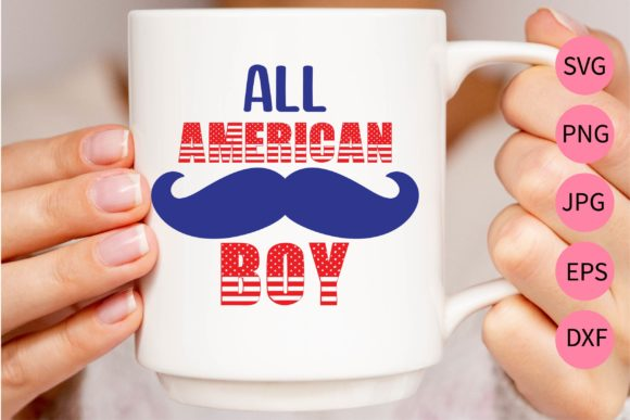 Download Free All American Boy Cut File Graphic By Midasstudio Creative for Cricut Explore, Silhouette and other cutting machines.
