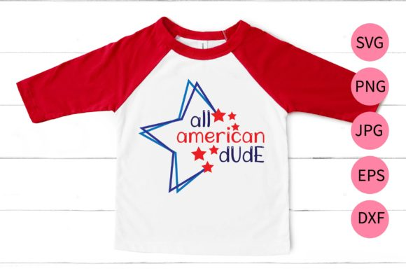 All American Dude Graphic Print Templates By MidasStudio