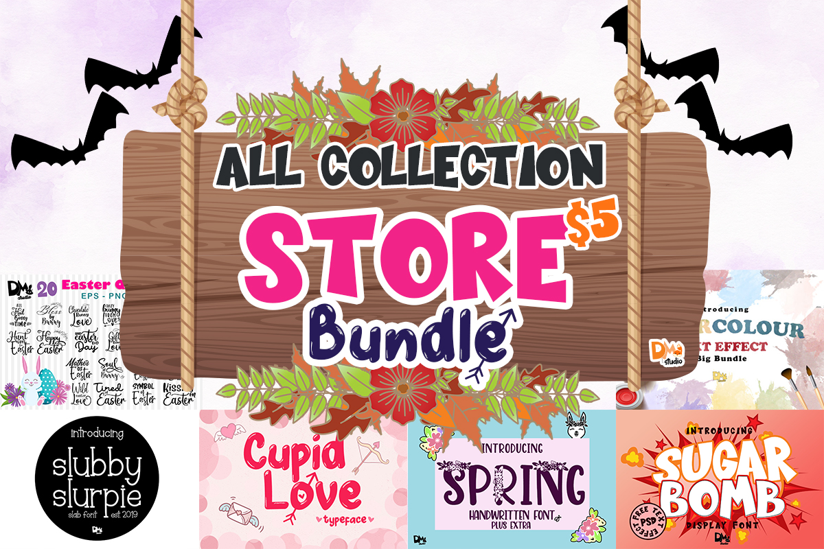 Download Free All Collection Store Bundle Bundle Creative Fabrica for Cricut Explore, Silhouette and other cutting machines.