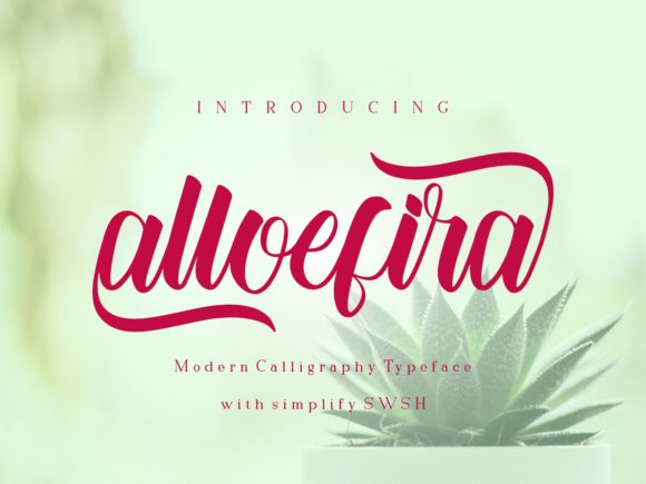 Download Free Alloefira Font By Nryntdw Creative Fabrica for Cricut Explore, Silhouette and other cutting machines.
