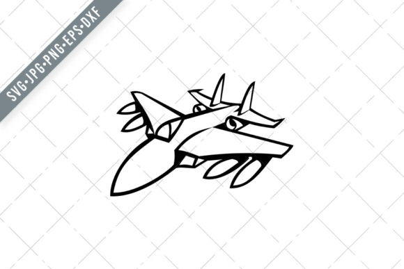 Download Free American Fighter Jet Graphic By Patrimonio Creative Fabrica for Cricut Explore, Silhouette and other cutting machines.