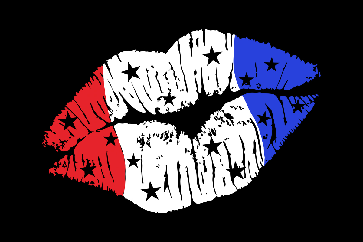 Download Free American Flag Female Lips Red White Blue Graphic By Sunandmoon for Cricut Explore, Silhouette and other cutting machines.