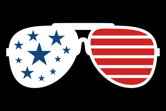 Download Free American Flag White Sunglasses Graphic By Sunandmoon Creative for Cricut Explore, Silhouette and other cutting machines.