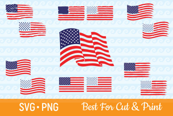 American Flag USA Distressed Grunge Gráfico Crafts Por OlimpDesign