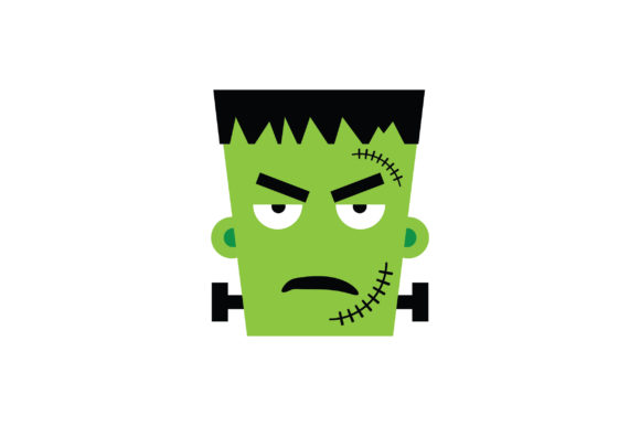 Download Free Angry Face Frankenstein Character Graphic By Fauzidea Creative for Cricut Explore, Silhouette and other cutting machines.