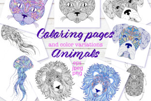 Animals - Coloring Pages Graphic Coloring Pages & Books Adults By fatamorganaoptic