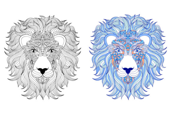 Animals - Coloring Pages Graphic Coloring Pages & Books Adults By fatamorganaoptic - Image 2