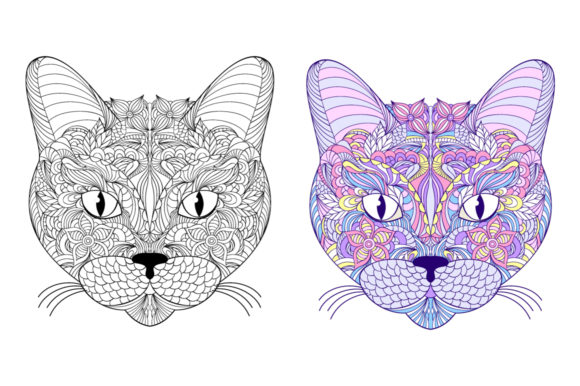 Animals - Coloring Pages Graphic Coloring Pages & Books Adults By fatamorganaoptic - Image 5