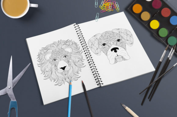 Animals - Coloring Pages Graphic Coloring Pages & Books Adults By fatamorganaoptic - Image 7