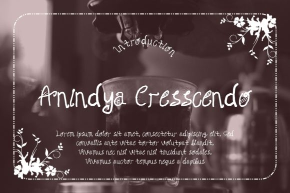 Download Free Anindya Cresscendo Font By Gblack Id Creative Fabrica for Cricut Explore, Silhouette and other cutting machines.