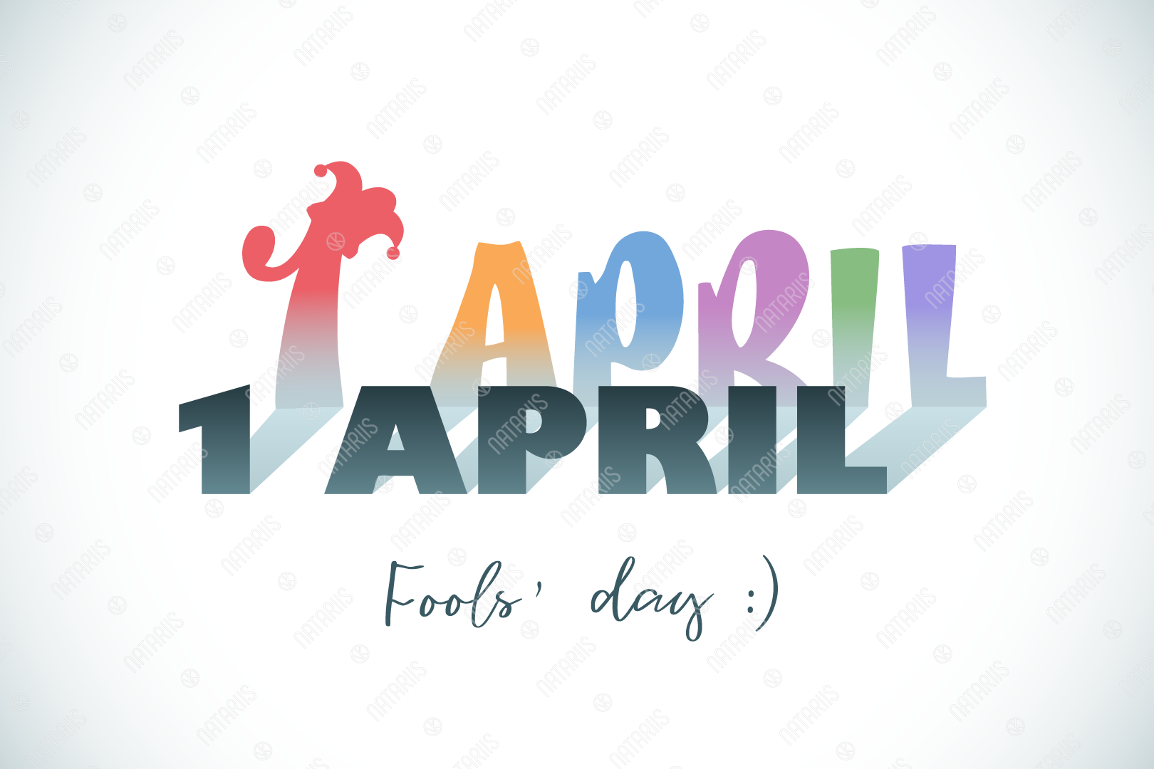 Download Free April 1st Fools Day Graphic By Natariis Studio Creative Fabrica for Cricut Explore, Silhouette and other cutting machines.