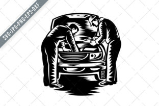 Download Free Automotive Mechanic Car Service Graphic By Patrimonio Creative for Cricut Explore, Silhouette and other cutting machines.