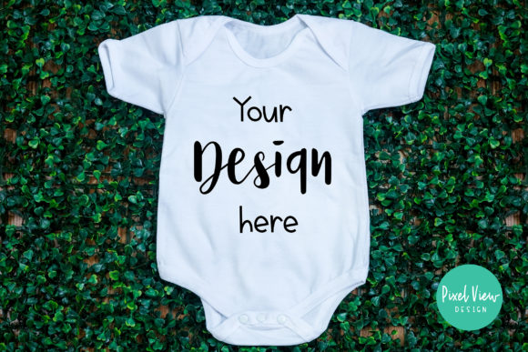 Download Free Baby Onesie Graphic By Pixel View Design Creative Fabrica for Cricut Explore, Silhouette and other cutting machines.