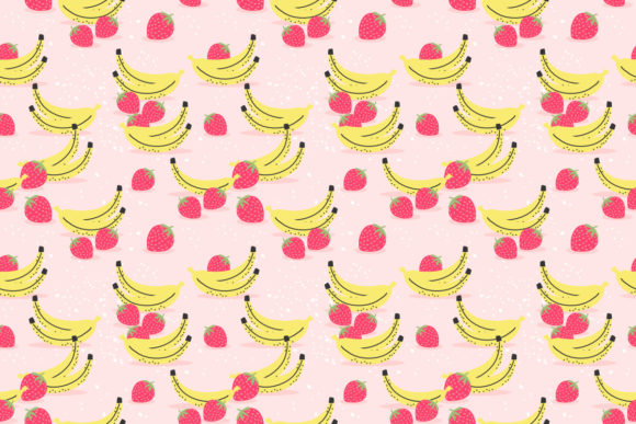 Download Free Banana And Strawberry Seamless Pattern Graphic By Thanaporn Pinp for Cricut Explore, Silhouette and other cutting machines.