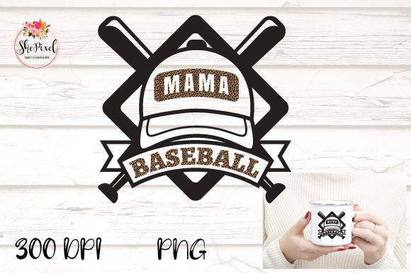 Print on Demand: Baseball Mama Distressed Clip Art Graphic Illustrations By Sublimation Hut