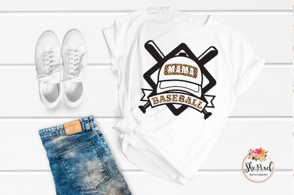 Download Free Baseball Mama Distressed Clip Art Graphic By Shepixel Creative for Cricut Explore, Silhouette and other cutting machines.