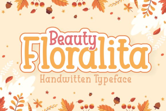 Print on Demand: Beauty Floralita Script & Handwritten Font By Kelik - 7NTypes
